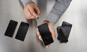 Smash Lab: iPhone Repair with Tempered Glass Screen Protector at Smash Lab (Up to 32% Off)