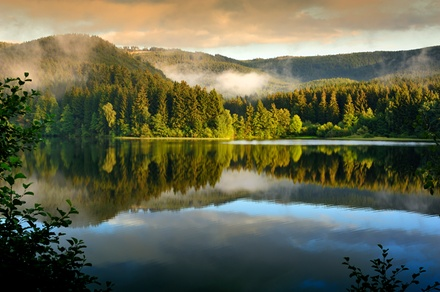American Food or Two-Night Cabin Stay at Huntington Lake Resort (Up to 52% Off)