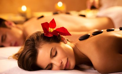 30- or 60-Minute Hot Stone Couples Massage at Jadore Beauty and More (Up to 56% Off)