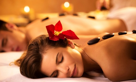 30 or 60Minute Hot Stone Couples Massage at Jadore Beauty and More