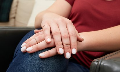 Shellac or Vinyalux Express Manicure, Pedicure or Both at Hudson Hair (Up to 54% Off)