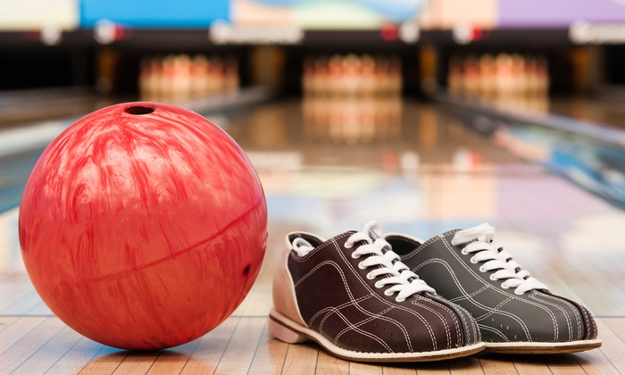 Nesbit's Lanes - Plum: Bowling Package with Pizza and Soda for Two, Four, or Six at Nesbit's Lanes (Up to 61% Off)