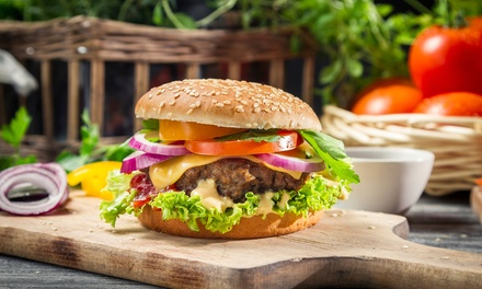 TwoCourse Exotic Burger Meal and Drink for Two or Four at Steak Inn
