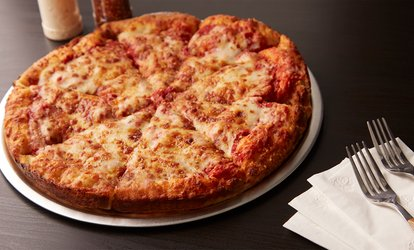 image for Two Large to-go Pizzas ($19) with Garlic Bread, Dessert and 1.25L Soft Drink ($29) at Joe's Pizza (Up to $56.10 Value)