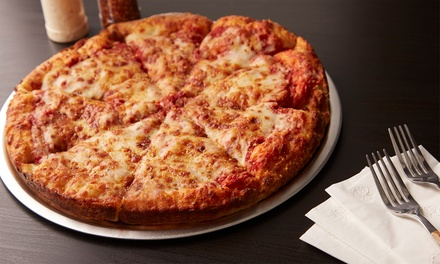 Two Large to go Pizzas ($19) with Garlic Bread, Dessert and 1.25L Soft Drink ($29) at Joes Pizza (Up to $56.10 Value)