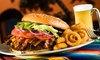Logger's Bar & Grill - Saint Croix Falls: Burger Meal for Two or Four with Potato Skins, Mini Donuts, and Drinks at Logger's Bar & Grill (Up to 40% Off)
