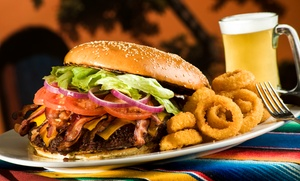 Logger's Bar & Grill: Burger Meal for Two or Four with Potato Skins, Mini Donuts, and Drinks at Logger's Bar & Grill (Up to 40% Off)