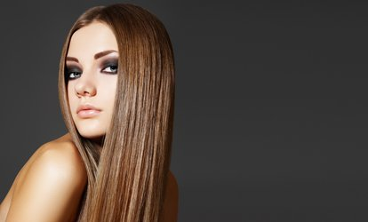 One or Three Keratin Complex Express Blow-Outs with Optional Haircut at S.A.F.E. Salon (Up to 58% Off)