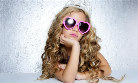 Makeover Package for One or Five Girls with Refreshments at Glitz & Glamour (Up to 49% Off)