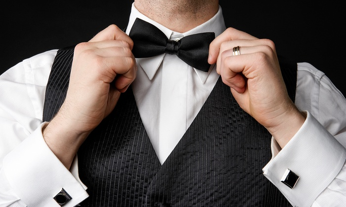 AJ's Tuxedo and Formalwear - Margate: Black Tuxedo Packages for Rent or Purchase at AJ's Tuxedo and Formalwear (Up to 68% Off)