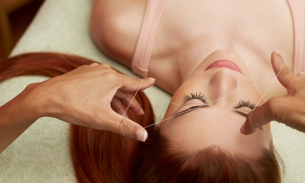 One, Two, or Three Eyebrow-Threading Sessions at Raw Sugaring Wax Spa (Up to 58% Off)