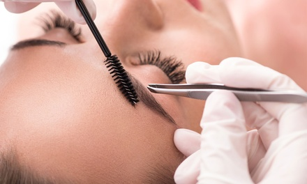 Eyelash and Eyebrow Tint, Trim and Shape and Optional Full Face Threading at Beautys Inn