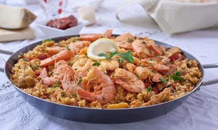 Menú para 2 o 4 con entrante, paella a compartir, postre y bebida desde 24,95 € en Restaurante Ses Tres Germanes