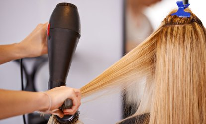 <strong>Haircut</strong> and Blowout with Optional Highlights or Single-Process Color at Eddie Caruso Salon (54% Off)