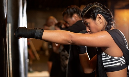 Ten Classes or One Month of Unlimited Kickboxing Classes with Gloves (78% Off)