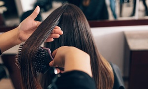 Shannon at Belle Hair Lounge: Haircut with Blow-Dry, Condition and Option for Half Head of Highlights at Shannon at Belle Hair Lounge (52% Off)