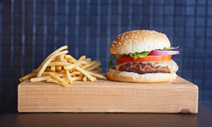 Coolabah Tree Cafe: Burger, Chips and Soft Drink for One ($9) or Two People ($17) at Coolabah Tree Café, Charlton (Up to $32 Value)