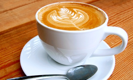 $12 for a Punch Card for Five Coffee Drinks or Lattes atMoore Than Coffee (Up to$22.50 Value)