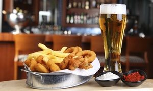 Crystal City Sports Pub: American Food for Two or Four at Crystal City Sports Pub (Up to 58% Off)