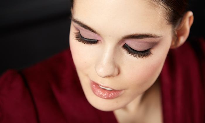 Glam Nail and Makeup Lounge - Hollywood: Eyebrow Wax with Eyeshadow or Full-Face Makeup and Lash Strips at Glam Nail and Makeup Lounge (Up to 41% Off)