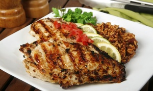 Tropics Jerk Center: Jamaican Food for One or Two at Tropics Jerk Center  (40% Off)