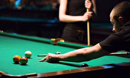 Two Hours of Billiards for Four People with Optional Pizza and <strong>Bar</strong> Food at Stix & Stones (Up to 48% Off)