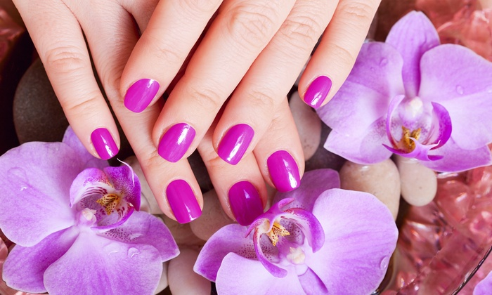 Laura Rodriguez at Tangles Salon - Irvington: One or Two Groupons, Each Good for a Shellac Manicure from Laura Rodriguez at Tangles Salon (Up to 39% Off)