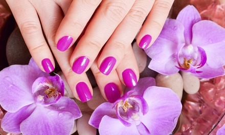 One or Two Gel Manicures, with Optional Spa Pedicure at Candyz Nailz (49% Off)