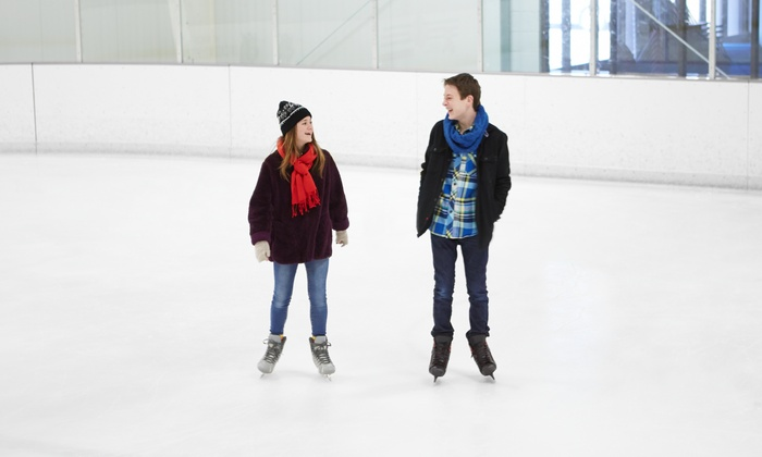 Ice Skate USA - Memorial City Mall Ice Rink: All-Day Ice Skating with Skate Rental for Two or Four, or a Birthday Party, at Ice Skate USA (50% Off)