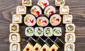 Taiko Sushi Bar: Japanese Degustation with Pot of Tea for 2 ($39), 4 ($75) or 6 People ($109) at Taiko Sushi Bar (Up to $220 Value)