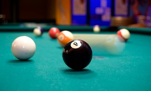 On Cue Billiards: One-Hour Billiards Package with Beer and Fries for Two or Four at On Cue Billiards (Up to 54% Off)