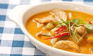 Thai Cuisine Spezialitäten Restaurant: Thailändisches Spezialitäten-Menü für 2 oder 4 Personen im Thai Cuisine Spezialitäten Restaurant (bis zu 64% sparen*)