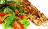 Brochette de poulet avec frites et salade pour 2 ou 4