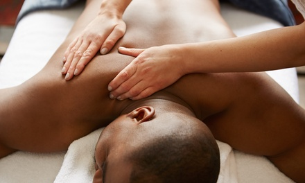$99 for a Sports Massage Package with Hot Stone Add-On, Manicure, and Gift at Me Spa ($186 Value)