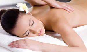 Tropical Breeze Studio: Two Full-Body Organic Spray Tans or 60-Minute Swedish Massage at Tropical Breeze Studio (Up to 67% Off)