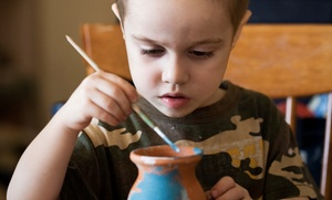 Clayful Pottery: BYOB Pottery Painting for Two or Four or Kids' Birthday or Tea Parties at Clayful Pottery (Up to 50% Off)
