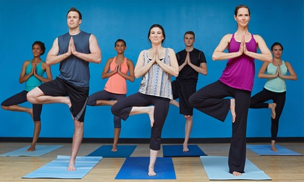 10- or 20-Class Pass, or a Month of Unlimited Group Classes at Evolve Yoga (Up to 55% Off)