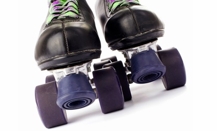 Roller-Skating with Skate Rentals and Soft Drinks for Two or Four at Broken Arrow Roller Sports (Up to 55% Off)