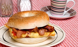 Roxy's Diner: $12 for Three Groupons, Each Good for a Breakfast Sandwich and a Coffee at Roxy's Diner ($19.50 Value)