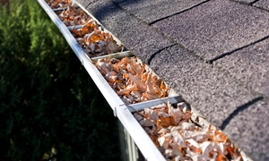 Extra Mile Home Improvement: Gutter Cleaning from Extra Mile Home Improvement (Up to 56% Off). Three Options Available.