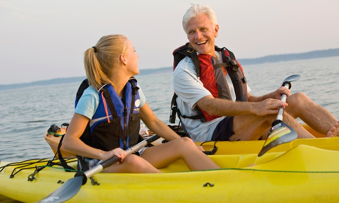 Discover Kayak - Lake Arlington: Kayak Rental or Lesson at Discover Kayak (Up to 51% Off). Three Options Available.