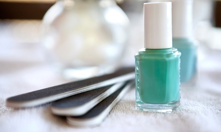 One or Two Mani-Pedis or One No-Chip Manicure at Salon 1800 (Up to 52% Off)