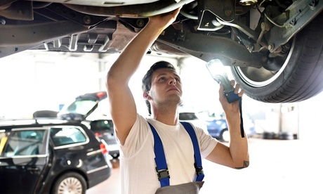 Four-Wheel Alignment and Tire Rotation at Elite Tire Automotive Center (Up to 53% Off). Two Options Available.