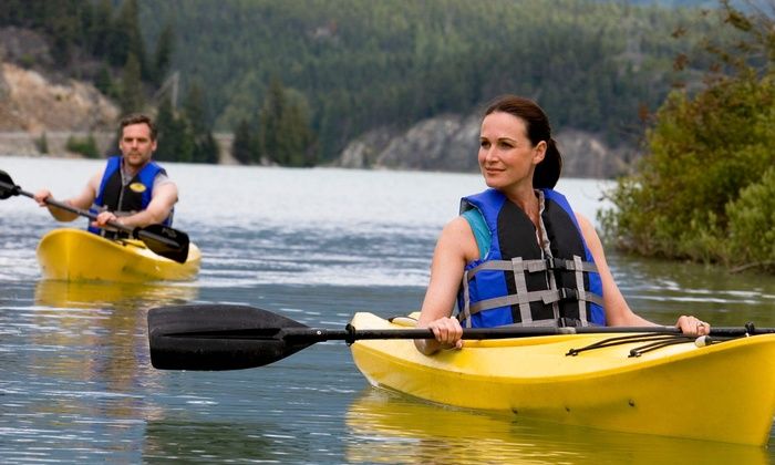 Relaxed Kayaks - Location Varies, call for exact location: Two-Hour Kayak or Paddle Board Rental for Two or Kayak Tour for Four at Relaxed Kayaks (Up to 43% Off)