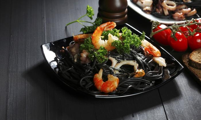 Glam ristorante - GLAM RESTURANT: Menu di pesce di 4 portate e bottiglia di vino ai Castelli Romani (sconto 70%)