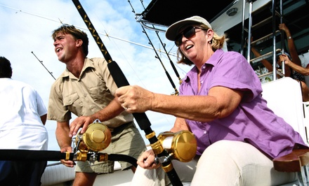 "Half-Day Fishing Excursion for Two or Four on ""Sea Queen VII"" (Up to 54% Off). Four Options Available."