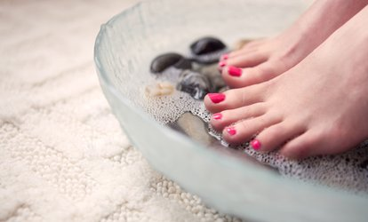 image for Classic Shellac Manicure, Pedicure or Both, or Luxury Manicure at Sunset Boulevard (Up to 65% Off)