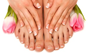 Christine Kenny Salon: Gel Mani-Pedi Packages at Christine Kenny Salon (Up to 47% Off). Five Options Available.