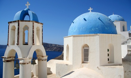 ✈ Santorini: Up to 7 Nights with Breakfast and London Return Flights at Villa Pezoula*