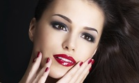 Regular or Gelish Manicure and Pedicure with Optional Hot Oil Hair Treatment and Blow-Dry at Charm Beauty Salon
